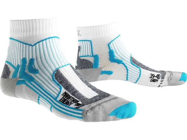 X-Bionic Marathon Energy Socks Women white/turquoise